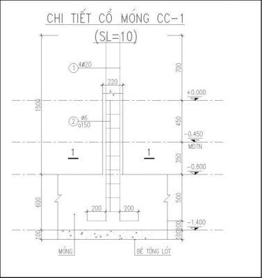 Chi tiết cổ móng CC1