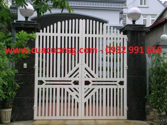 kích thước cổng sắt 2 cánh đẹp