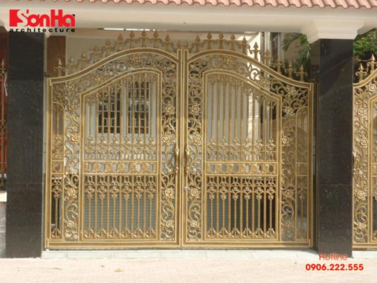 Đây là loại cổng rất phổ biến đối với các loại hình nhà ở tại Việt Nam