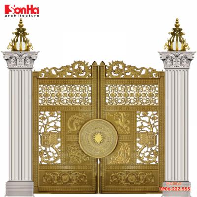 Thêm một phương án thiết kế cổng cổ điển cho biệt thự Pháp
