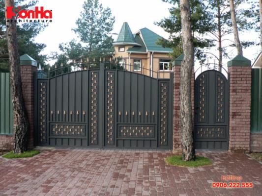 Thiết kế chiều cao và chiều rộng cổng nhà cần lưu ý tới sinh khí