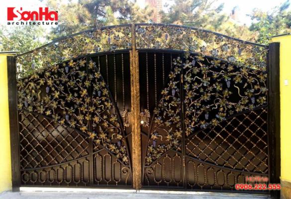 Thiết kế cổng đẹp và hiện đại cho biệt thự sang trọng và cao cấp