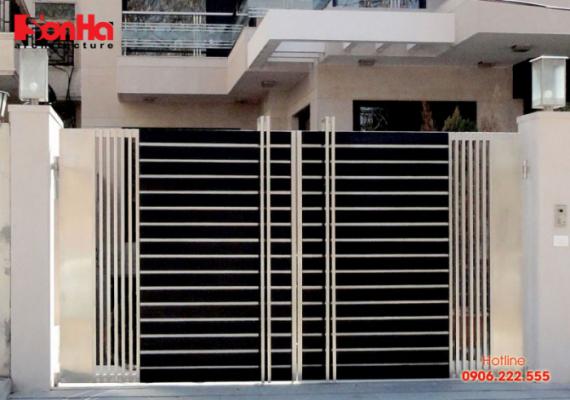 Thiết kế cổng nhà hiện đại phù hợp với những mẫu biệt thự phố