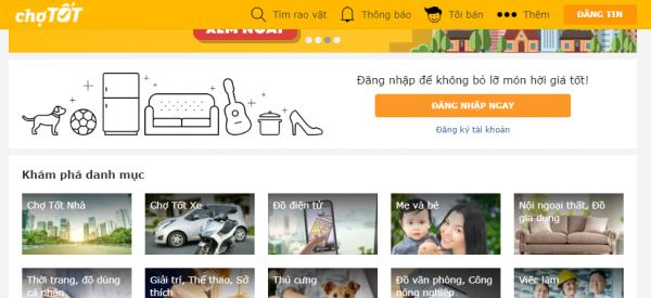 chợ tốt - top 10 website rao vặt