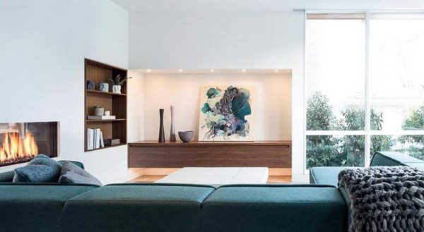 Thiết kế âm tường là một xu hướng không mới nhưng toát lên vẻ tiện nghi và hiện đại