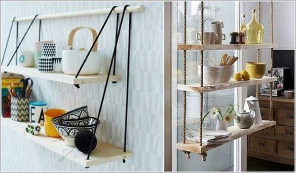 Thiết kế giàn treo cho kệ gỗ cũng là một ý tưởng hay có thể handmade tại nhà