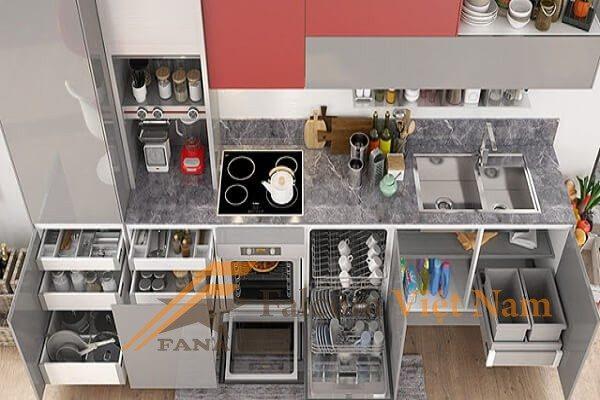 Hướng dẫn cách sắp xếp không gian tủ bếp đẹp, sáng tạo - Falcom ...