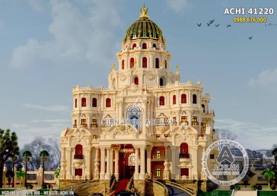 Mẫu biệt thự 8x12m cổ điển Châu Âu