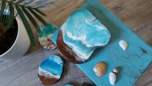 Bring home an Ocean. Resin Ocean & SurfArt handmade by SurfArt.