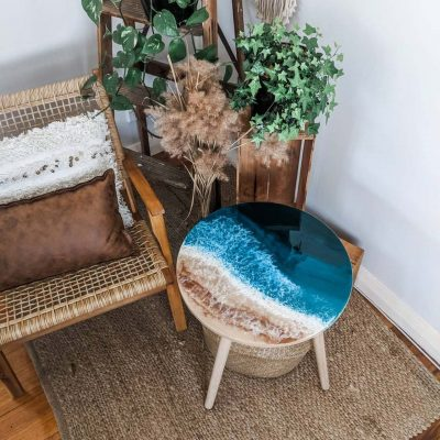Ocean Art Resin Coffee Table - The Fifth Design